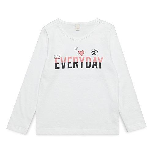 ESPRIT KIDS Mädchen T-Shirt RM1000307, Weiß (White 010), (Herstellergröße: 128+)