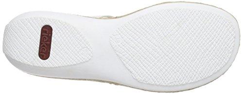 Rieker 62353 Women Mules, Mules femme Blanc - Weiß (weiss/rose / 81)