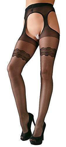 Cottelli Collection Stripstrumpfhose, S, schwarz