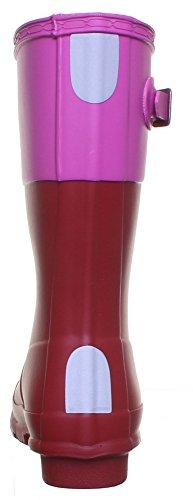013818Hunter Welly Stiefel Kontrast Junior Gummi Stiefel Junior Größe UK 12–UK 5 Dark Red FV1