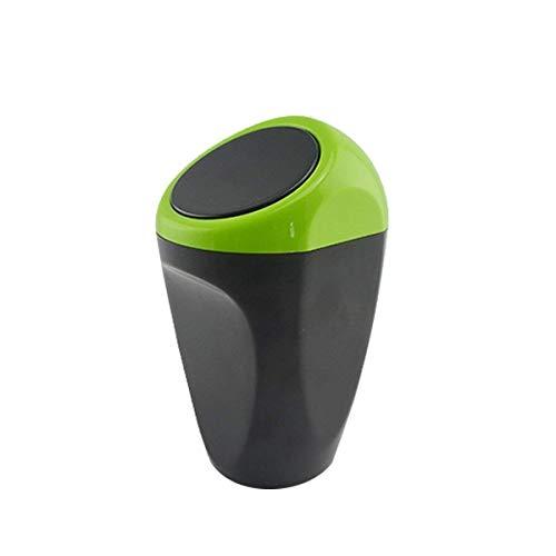Accessoires Auto cuisine Mini Plastique Couverture Voiture Poubelle bacs de stockage (vert)