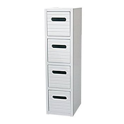 New White Wood Free Standing Bathroom Tidy Slim Vanity Drawer Bedroom Storage Cabinet Bedside Unit