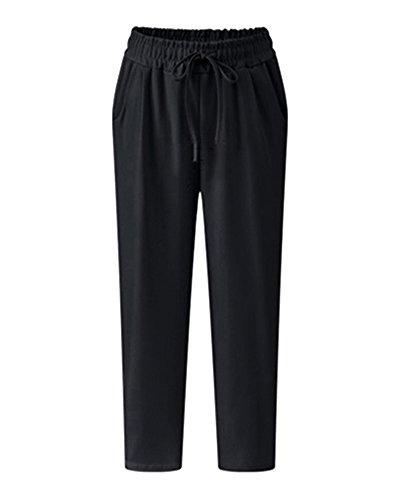 AnyuA Tallas Grandes Mujer Pantalones Harem Ligeros
