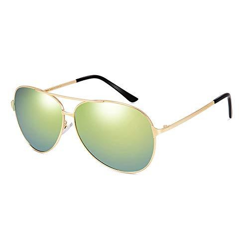 Idebris Sonnenbrille Männer großes Gesicht Sonnenbrille Flut polarisierten extra großen Rahmen Brille (Color : Green)