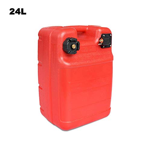 evergremmi Sehr handlicher Treibstofftank Benzintank,Außenbordertank 12L/24L Liter,Handlicher Benzintank, Tank Außenborder (Motor Außenborder Tank Schlauch)