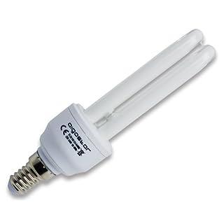 Aigostar 100711–Energiesparlampe T22U 7W, kleines Gewinde und kühles Tageslicht, A, 230V, E14