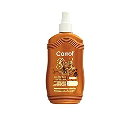 Carrot Sun® Gold Tan Accelerator Spray Oil with Almond Oil & L-Tyrosine for a GOLDEN tan-FAST! 200ml