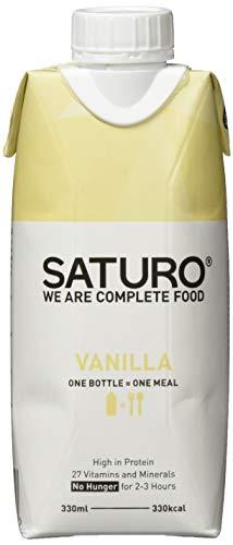 Astronautennahrung SATURO, Vanille, 330 kcal, Hochkalorische Trinknahrung, Nahrungsersatz Laktosefrei und Glutenfrei, 8 x 330 ml