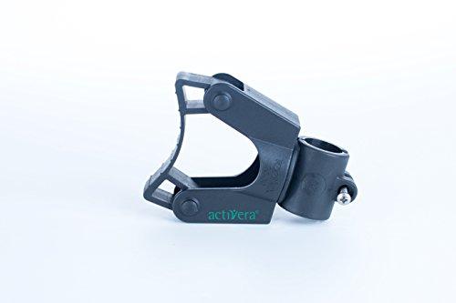Gehstockhalter für Rollator und Rollstuhl Befestigung an 20mm Rohren, für Gehstöcke mit D= 20-30 mm