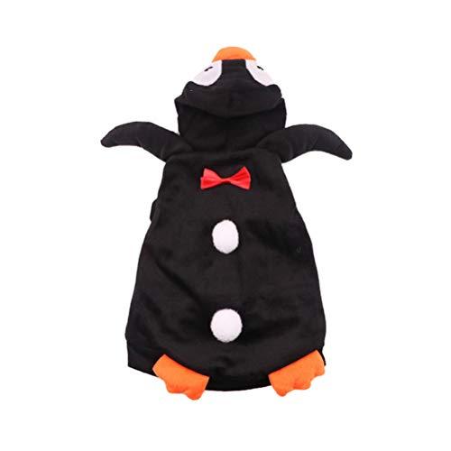 POPETPOP Haustier Pinguin Form Halloween Kostüm - Kreative Hundekleidung Makeover - Lustiger Hund Phantasie Cosplay Kostüm für Halloween Weihnachten - Größe L (Großer Hunde Pinguin Kostüm)