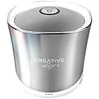 Creative Woof 3 - Haut Parleur Bluetooth Enceinte sans Fil Portable avec Port microSD - Winter Chrome