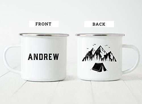 Enamel Mug 10oz Metal Camp Mug Personalized Camp Mug Camp Mug Gift Campfire Mug Camp Mug With Name Camping Gift Enamel Mug Camping Mug 10oz