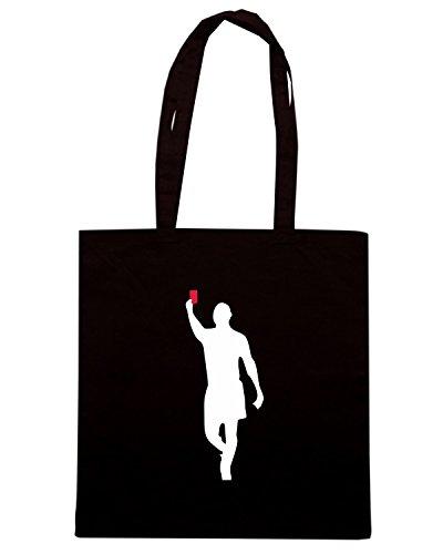 T-Shirtshock - Borsa Shopping TUM0133 Calcio arbitro REFREE Nero