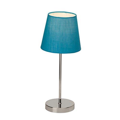 Brilliant AG 94874/03 Lampe à poser, Métal, E14, 25 W, Chromé/Bleu