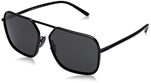 Dolce & Gabbana Herren 0DG2193J 110687 59 Sonnenbrille, Schwarz (Matte Black/Grey)