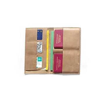 Echtleder Travelorganizer Leder Reiseetui Passhülle beige handmade