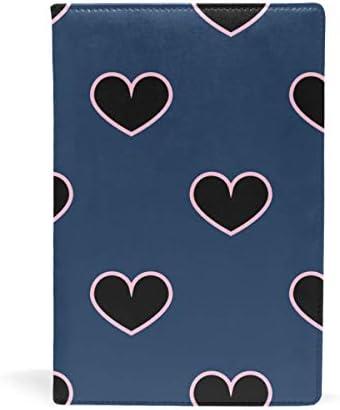 Fantazio Textbook couvertures Cœur Noir Compatible Compatible Compatible avec petits/Plus fins Hardcover Femmeuels scolaires jusqu'à 8,7 x 5.8in B07HVVDT4G | De Qualité  d468b6