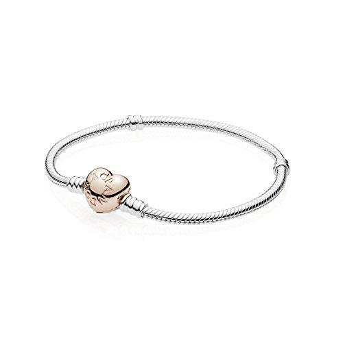 Pandora Armreif mit Herzverschluss - PANDORA Rose - 18cm - 580719-18