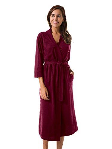 f774136406 SIORO Femme Sexy Robe de Chambre Peignoir Longue Kimono Robes 3 4 Manche  Nuit Courte