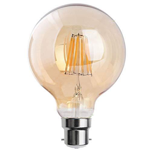 Vintage Edison LED-Leuchtmittel, 8 W, B22 Bajonettfassung, dekorativ, energiesparend, G95 8W B22 - Salon Deckenventilator