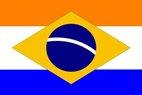 magFlags Drapeau Large Dutch Brazil Variant   Brasil Holandês Variante   Drapeau Paysage   1.35m²   90x150cm