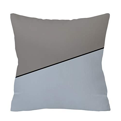 Xmiral Kissenbezüge Pillowcase 45cm x 45cm Geometrische Gedruckte Kissenhüllen Versteckter Reißverschluss(H) Rick Lämmer