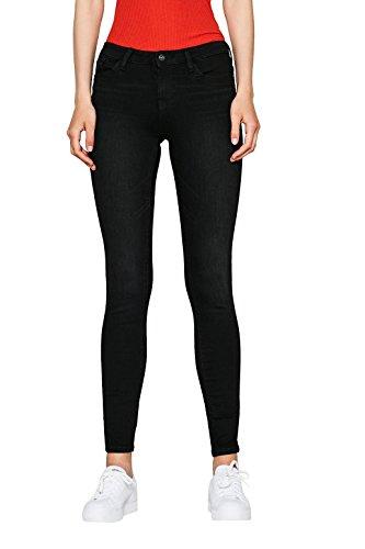 edc by ESPRIT Damen Skinny Jeans 077CC1B013 Schwarz (Black Dark Wash 911), W27/L32