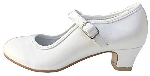 La Senorita Spanische Flamenco Schuhe - Ivory Weiß (33 EU)