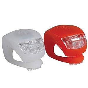 2 x LED Fahrrad Radfahren Silikon Kopf vorne Hinterrad Sicherheitslicht Lampe, Nourich Fahrradleuchte Fahrradbeleuchtung, Fahrradlampe, Fahrradlichter