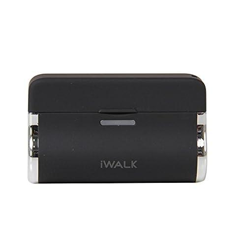 iWalk Link 3000mAh Hochleistungs-Dockingstation Ladegerät Externer Akku Powerbank Battery Backup Kompatibel mit Micro-USB Smartphones einschließlich Samsung, Sony, Huawei, Lenovo, LG, Nokia, HTC, Microsoft, Motorola, BlackBerry - Schwarz