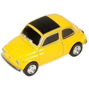 Autodrive USB-Stick 'FIAT 500' Oldtimer gelb 16GB