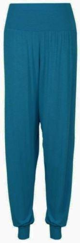 Pantalones leggins, anchos, estilo harem, con cintura elástica, para mujer, Mujer, color Teal, tamaño 48-50