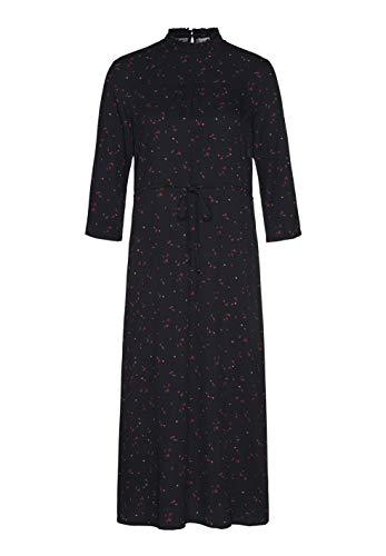 ARMEDANGELS Damen Kleid aus LENZINGTM ECOVEROTM - Alexa Simple WILD Flowers - M Black PETA Approved VEGAN Wild Flower Dress