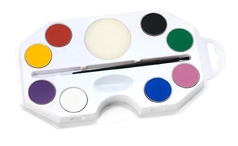 Smiffy's - Make-Up FX, Aqua Gesichts- und Körperfarbe, Regenbogen-Kit