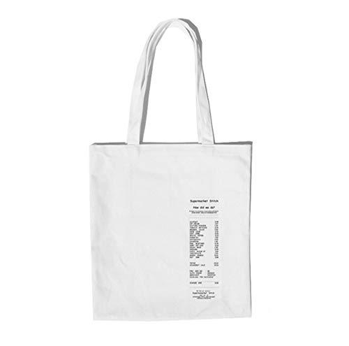 n Frauen Studentinnen College Style Einfache Casual Canvas Taschen Einkaufstaschen Umhängetaschen ()