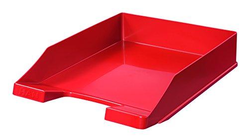 HAN Briefablage KLASSIK 1027-X-17 in Rot/Hochwertige, stapelbare Ablage im modernen Design/Für Briefe & Papiere bis Format A4–C4, 10 Stück