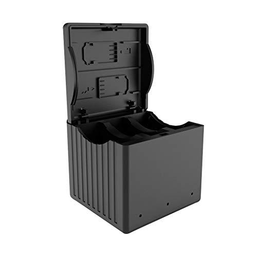 Fcostume 3 IN 1 Akku Ladegerät Für DJI Osmo Action Camera-Speichertyp Akku Intelligentes Ladegerät (Schwarz) -