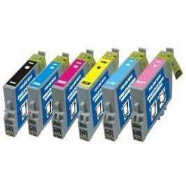 Kompatible Tintenpatronen für Epson Drucker R200, R220, R300, R320, RX500, RX600, RX620, RX640T0481, T0482, T0483, T0484, T0485, T0486 6er-Pack (R200 Epson Drucker)