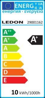Ledon 29001162 A+, LED-Leuchtmittel, Metall, 10.5 watts, E27, Weiß, 12 x 6 x 6 cm