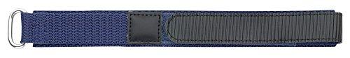 Eichmüller–textil Reloj de pulsera con cierre de velcro color azul oscuro 18mm