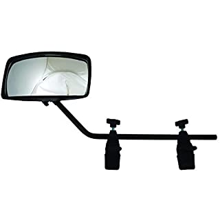 attwood Men's Clamp-On Ski Mirror Universal Mount Black, Beige, One Size