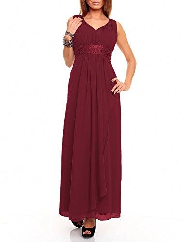 Astrapahl Damen Kleid br09111ap, Rot (Weinrot), 36