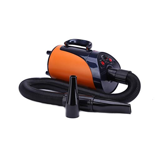 ZALIANG Máquina sopladora de Mascotas Big Wind Speed Dog Secador de Pelo de Alta Potencia Mute 3000W (Color : Orange)
