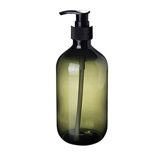 Leere Shampoo-Flaschen Undurchsichtig Vielseitige Pumpflasche Tropffreier Lotionsbehälter Handseifenspender 500 ml (Color : Green) -