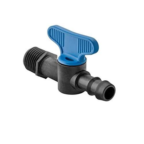 abrisa - Mini vanne Filetée 1/2'' - cannelée 16 mm pour micro irrigation