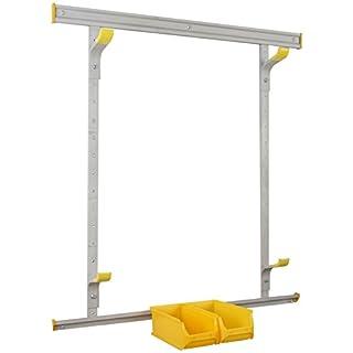 Allit 455216 Reifenhalter-Set, Wandhaltesystem silber, gelb