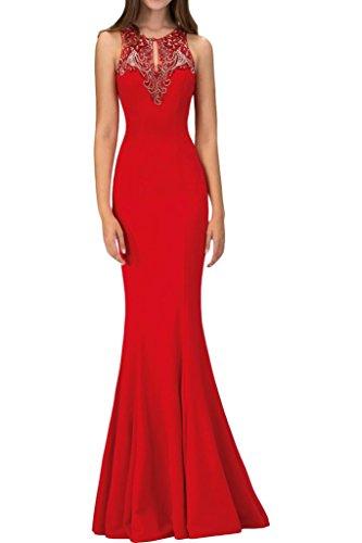 ivyd ressing Femme Haute Qualité Etui Ligne perles rondes robe col Party Prom robe Lave-vaisselle robe robe du soir Rouge