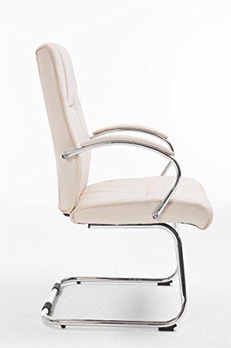 CLP Besucher Freischwinger-Stuhl BASEL V2 mit Armlehne, gepolstert creme - 3