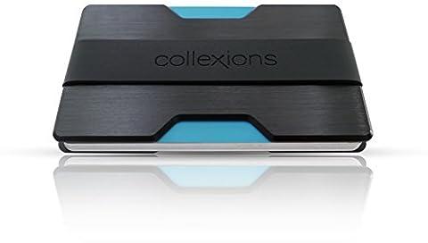 collexions Premium Kreditkartenetui mit Geldklammer | feinstes Aluminium | bis zu 14 Karten | minimalistische Geldbörse | kompakte Herren Brieftasche | RFID