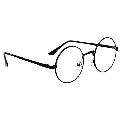 Arichtop Unisex koreanische Weinlese-Brillen-runder Metallrahmen Brille-freies Objektiv-Augen-Glas-Zubehör